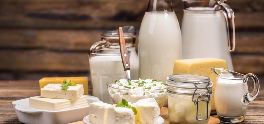 Calciumhaltige Lebensmittel wie Milch und Käse sind wichtig für starke Knochen